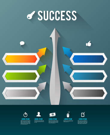 succes: Succes template with icons Illustration