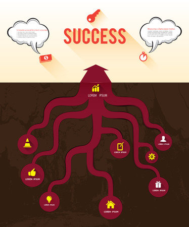 Root arrow to success Vector