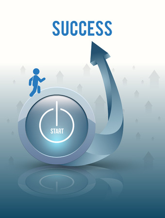Start to success Vector