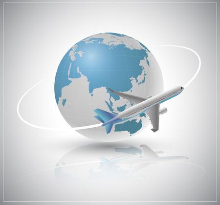 Air plane around the world
