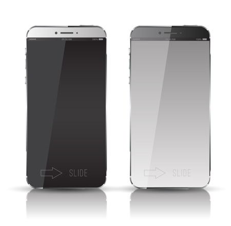 iphon: New realistic mobile phone smartphone mockup with blank screen  Can use for object website and printing