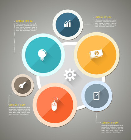 Circle group template can use for business concept  Illustration