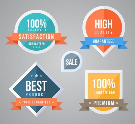 collection d'étiquettes de marque ne peut tout simplement utiliser pour la promotion et le produit garanti Vecteurs