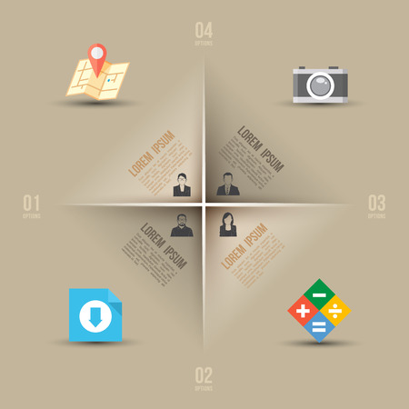 Abstract business info graphics template with icons  Vector illustration  can be used for workflow layout, diagram, number options, step up options, web design  Vector