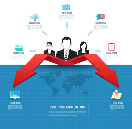 Template business concept with business people Vector