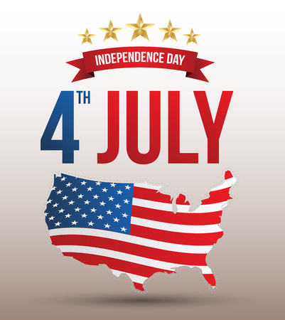 Happy independence day card United States of America, 4 th of July