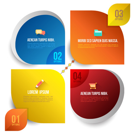 Vector circle business concepts with icons   can use for infographic   loop business report or plan   modern template   education template   business brochure   icons long shadows Vector