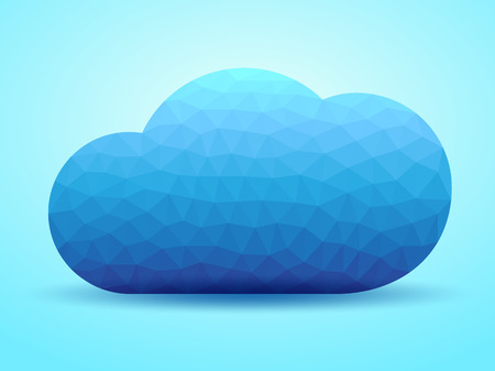 cloud vector: Creative cloud background for your business  Vector illustration  Illustration