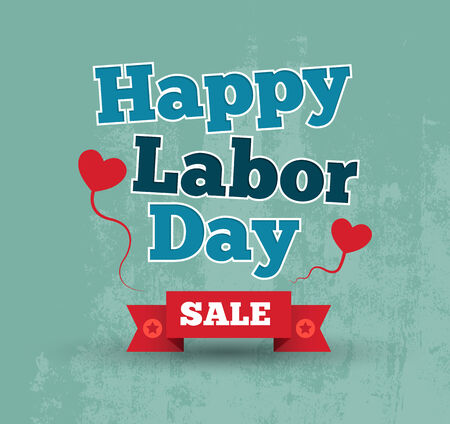 Labor day letter card banner