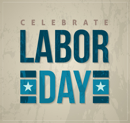 national freedom day: Labor day letter card banner