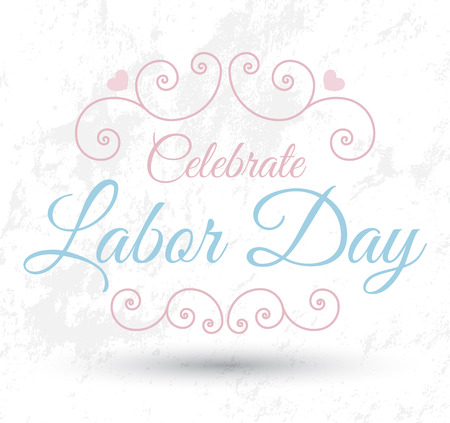 Labor day letter card banner Vector