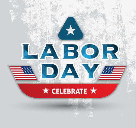 labor day: Labor day letter card banner