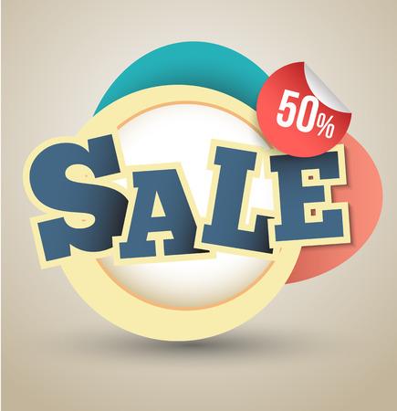 Sale promotion banner  Illustration