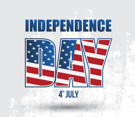 Happy independence day card United States of America, 4 th of July  photo
