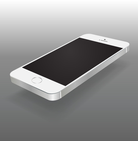 iphon: Smartphone black and white color Isolated  Realistic mobile iphon style mockup vector  Can use for printing and website.