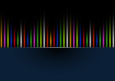 range of motion: Abstract rainbow colours on a black background. Vector illustration. Illustration