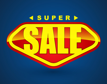 Super sale tag banner. can use for promotion. Vector