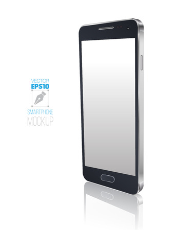 New Smartphone perspective realistic mockup illustration.