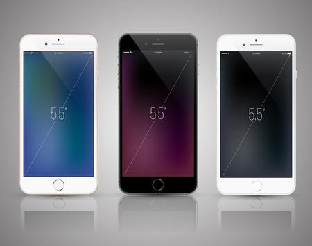 New Smartphone realistic mockup. Ilustração