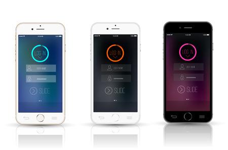 New Smartphone realistic mockup.  イラスト・ベクター素材