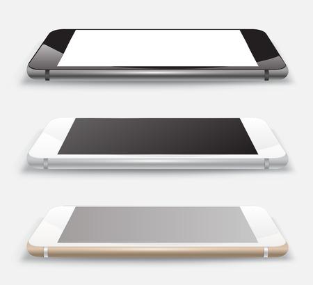 Smartphone vector 3D mockup realistic style. Stok Fotoğraf - 32005803