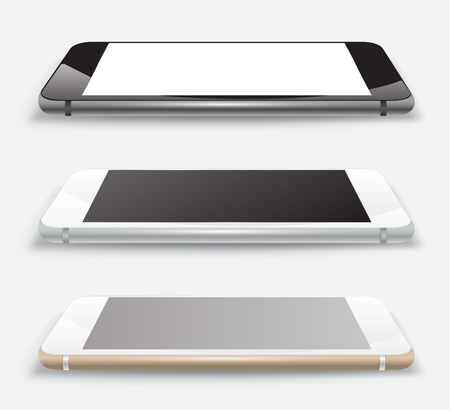 Smartphone vector 3D mockup realistic style.
