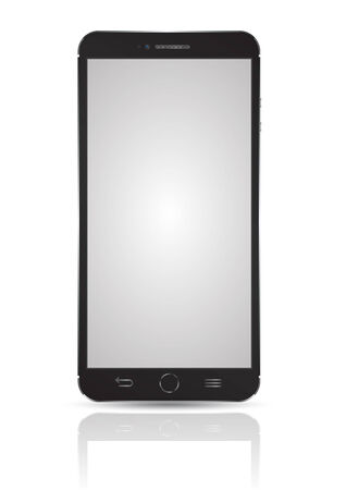 Smartphone  3D mockup realistic style. Imagens - 32005862