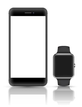 manzanas: Smartphone vector 3D maqueta estilo realista.