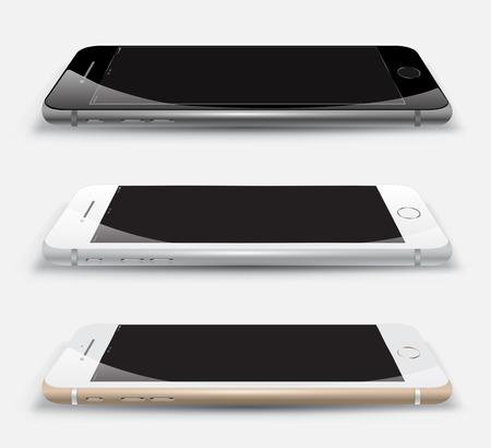 objet: Réaliste jeu smartphone perspective. Vector Illustration.