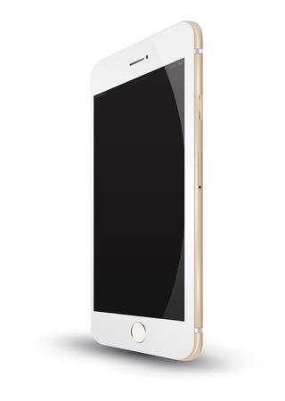 Realistic smartphone . Vector Illustration.