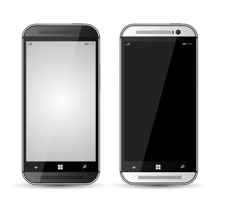 Realistic mokup smartphone gray and black Çizim