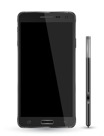iphon: smartphone realistic vector mockup. Can use for printing and web object. Game and application mockups.