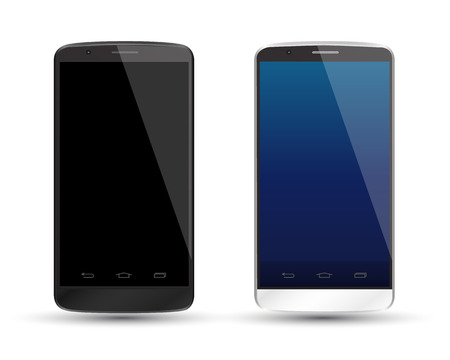 smartphone icon: smartphone realistic vector mockup. Can use for printing and web object. Game and application mockups.