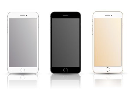 smartphone realistic vector mockup. Can use for printing and web object. Game and application mockups.
