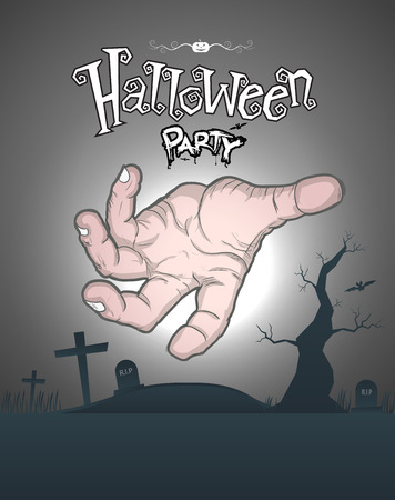 Halloween Party Poster. Vector illustration. for printing and web element. Illustration