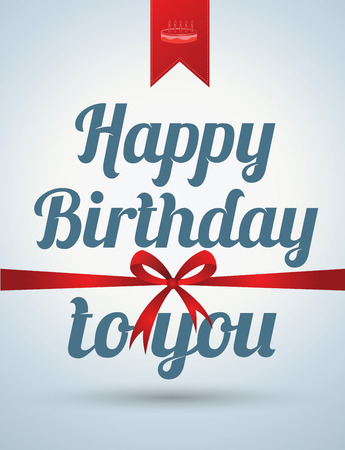 Happy birthday card. Vector illustration. Can use for printing and web. Illustration