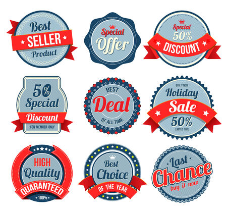 Set of retro vintage banner, badges and labels. Vector illustration. Can use for printing and web element. Vector