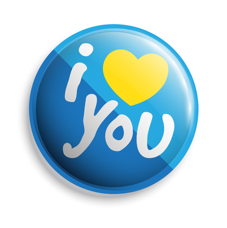 realtionship: I love u button. Vector illustration. Can use for printing and web. Illustration