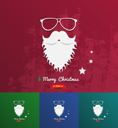 comedy disguise: Christmas background texture with santa face