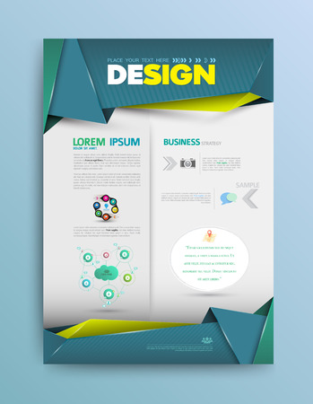 Business background. Vector template. Poster. Cover report template. Imagens - 35760401