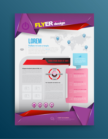 Vector design template printing. Vector illustration. Can use for business data report, presentation, web site, brochure, leaflet, flyer, poster and advertising. Vector