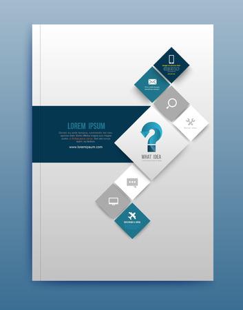Vector brochure design template, flyer lay-out, magazine cover & poster sjabloon. Vector illustratie. Kunt gebruiken voor het afdrukken en web. Stock Illustratie