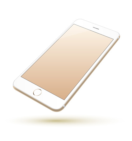 Smartphone vector realistic. Can use for printing, website, presentation element. for app demo on phone. Illustration