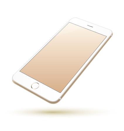 Smartphone vettore realistico. Può usare per la stampa, sito web, elemento di presentazione. per app demo sul telefono. Archivio Fotografico - 35760419