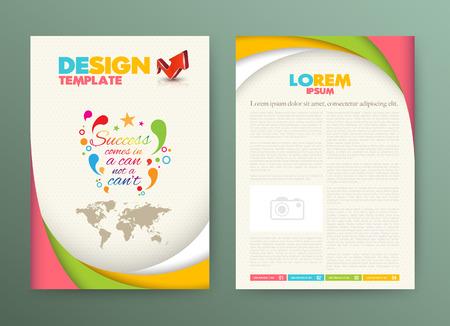 sjabloon: Brochure Flyer ontwerp Layout sjabloon met succes komt in een kan niet een kan niet.