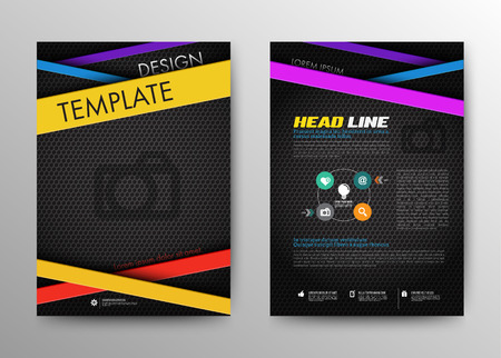 bleed: Abstract Brochure Flyer design vector template in A4 size. Design Layout. Infographic Elements.