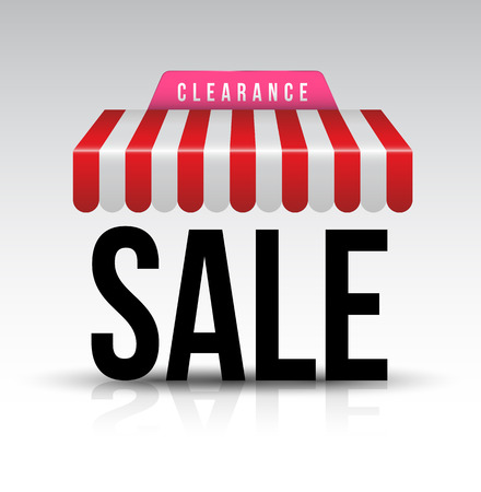 clearance sale: Clearance sale awning.