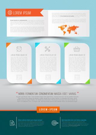 folleto: Moderno Vector abstracto folleto, informe, documento o dise�o de volante, portada de revista, la plantilla del cartel. Ilustraci�n del vector.