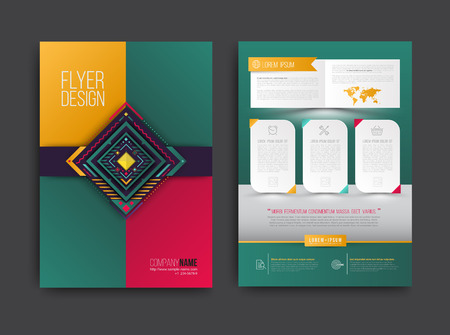 Vector brochure, flyer, magazine cover and poster template. Vector illustration. Vettoriali