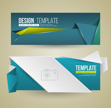 website header: Set of modern design banners template. Vector illustration. Illustration